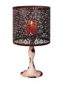 YK Decor Metal Vintage Look Candle Holder Candle Lamp, Black