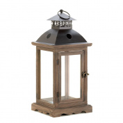 Outdoor/Indoor 47cm H Large Rustic Monticello Antique Wooden Candle Lanterns