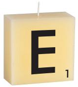 """CERABELLA LETTER CANDLE """"E"""" - 8.9cm x 8.9cm"""