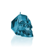 Candellana Candles Small Skull Candellana Candle, Blue Metallic