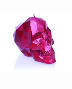 Candellana Candles Skull Poly Candle, Pink High Glossy