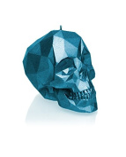 Candellana Candles Skull Poly Candle, Blue Metallic