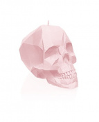 Candellana Candles Skull Poly Candle, Powder Pink