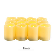 Candle Choice Flameless Candles Timers Battery Operated Votive Candles with Timer, Long Battery Life Set of 12