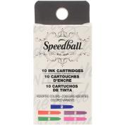 Speedball Fountain Pen Ink Cartridges Set-10/Pkg