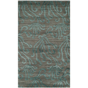 Martha Stewart Rugs Seaflora Hand-Tufted Blue/Grey Area Rug
