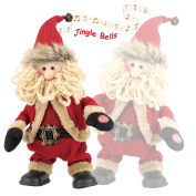 Final Clearance! Animated Christmas Singing and Dancing Santa Claus for Parties, Jolly Santa Plush, Electric Toys with Battery Powered for Christmas Gifts or Birthday Presents, Tall 30cm