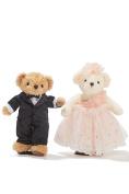 Wedding Teddy Bears Just Married Bear Couple Newlyweds Toy Set 30cm