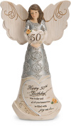 Pavilion Gift Company 82414 Elements Angels - Happy 50th Birthday May Today & All of Your Tomorrows Be Filled with Joy & Love 15cm Angel Figurine