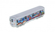 MTA New York City Metro Subway 18cm with Chico Graffiti Diecast Model 1:100 Scale