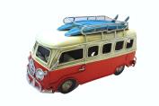 Vintage Looking VW Type Beach Bus Surfers Van Model with Surfboards