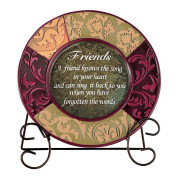 Decorative Inspirational Plate with Display Stand, Friend