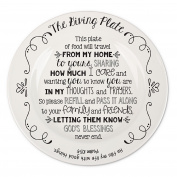 Lighthouse Christian Products God's Blessings Ceramic Giving Plate