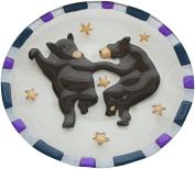 Big Sky Carvers Lori Siebert Clear Streams Dancing Bear Glass Plate