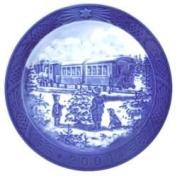 2004 Royal Copenhagen Christmas Plate - Awaiting The X-mas Train