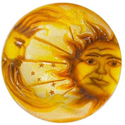 Continental Art Centre 46cm sun and moon glass plate