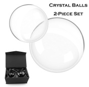"80mm & 60mm Crystal Ball Bundle (3"" and 2.4""); Optical Glass Reflective Spheres"