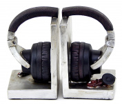 Decorative Bookends Set Headphone Heavy Duty