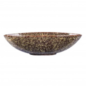 Hosley® Ceramic Peacock Bowl - 37cm Long. Bowl for Orbs and Potpourri. Ideal GIFT for Weddings, Parties, Special Occasions; LED Votive Tea light Gardens P1