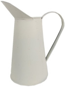 Craft Outlet Tin Pitcher, 28cm , Off-White