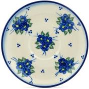 Polish Pottery Saucer 13cm Poppy Triad