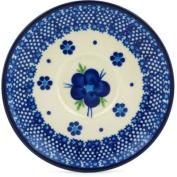 Polish Pottery Saucer 13cm Bleu-belle Fleur