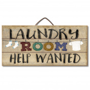 Laundry Room Help Wanted Reclaimed Wood Pallet Sign - Made in USA! by American Woodcrafters