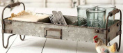 Galvanised Steel Industrial Divided Tray with Stand