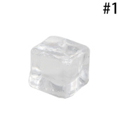 Hestio 5Pcs Square Clear Fake Artificial Acrylic Ice Cubes Decorative Display Ice Cubes