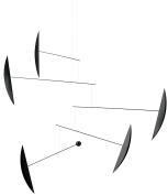 Tango Black Hanging Mobile - 100cm - Steel and Plastic - Handmade in Denmark by Flensted