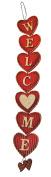 """Wooden Valentine Heart """"Welcome"""" Door Decoration"""