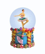 Ballerina Mini Snow Globe With Flowers 6.4cm