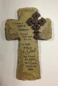 Roman Inc. 30cm a Place in Heaven Bereavement Memorial Wall Cross