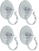 Holiday Joy - 4 Wreath Holders - World's Strongest All Purpose Giant Suction Cups - Perfect Wreath Hangers