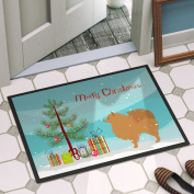 The Holiday Aisle Pomeranian Door Mat