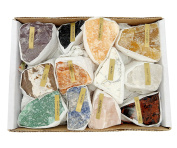 Natural Gemstone Mix 0.7-0.9kg Full Box Approx. 10-15 pieces - Mixed Gemstone Clusters - Rough Stones Crystals