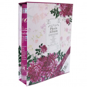Fashion BB Multi photo album 4x6 with Fabric cover 200 Pockets Hold Pink
