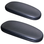 Chair Arm Pads for Office and Desk Chairs complete PAIR with Attachment Screws Soft Cushioning for Comfortable Support to Arms and Elbows Simple Instal