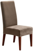 Sure Fit Stretch Pique - Shorty Dining Room Chair Slipcover - Taupe