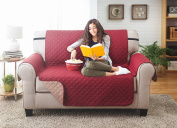 Deluxe Reversible LoveSeat Furniture Protector, Burgundy / Taupe 190cm x 220cm