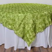 Efavormart Wonderland Rosette Table Overlay 180cm x 180cm - Apple Green