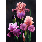 KAYI 5D Diamond Painting Blooming Iris japonica Cross Stitch Crafts Rhinestone Embroidery Home Decor