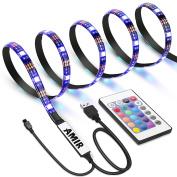 AMIR TV LED Light Strip, 30 LED TV Backlight Strip, USB Bias Monitor Lighting, Changing Colour Strip Kit , Accent Light Set , Waterproof Bias Lighting For TV Desktop PC
