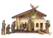 12 Pc Resin 15 x 7 Creche Full Christmas Nativity Set