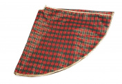 Red and Green Plaid Christmas Tree Skirt by Clever Creations | Floor Cloth with Gold Trim | Traditional Classic Festive Holiday Decor | Catches Falling Needles and Sap | 120cm Diameter