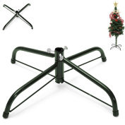 Christmas Tree Stand Green Metal Holder Base Cast Iron Stand 4 Feets Decoration by Lookatool