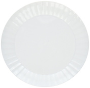 Party Essentials N67004 70 Count Deluxe Round Party/Dessert Plates, 15cm , White