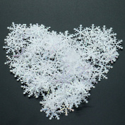 HUELE 900PCS Shining Snowflake Ornaments Confetti Glitter for Art Crafts DIYand Party Decoration
