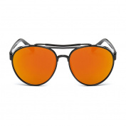 QHGstore Unisex Fashion Aviator Retro Colourful Sunglasses PC Frame Colour Film UV400 Sun Eyewear