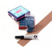 5 X 10mm Tweeten ELK MASTER Leather Snooker Pool Cue Tips - FREE Sandpaper